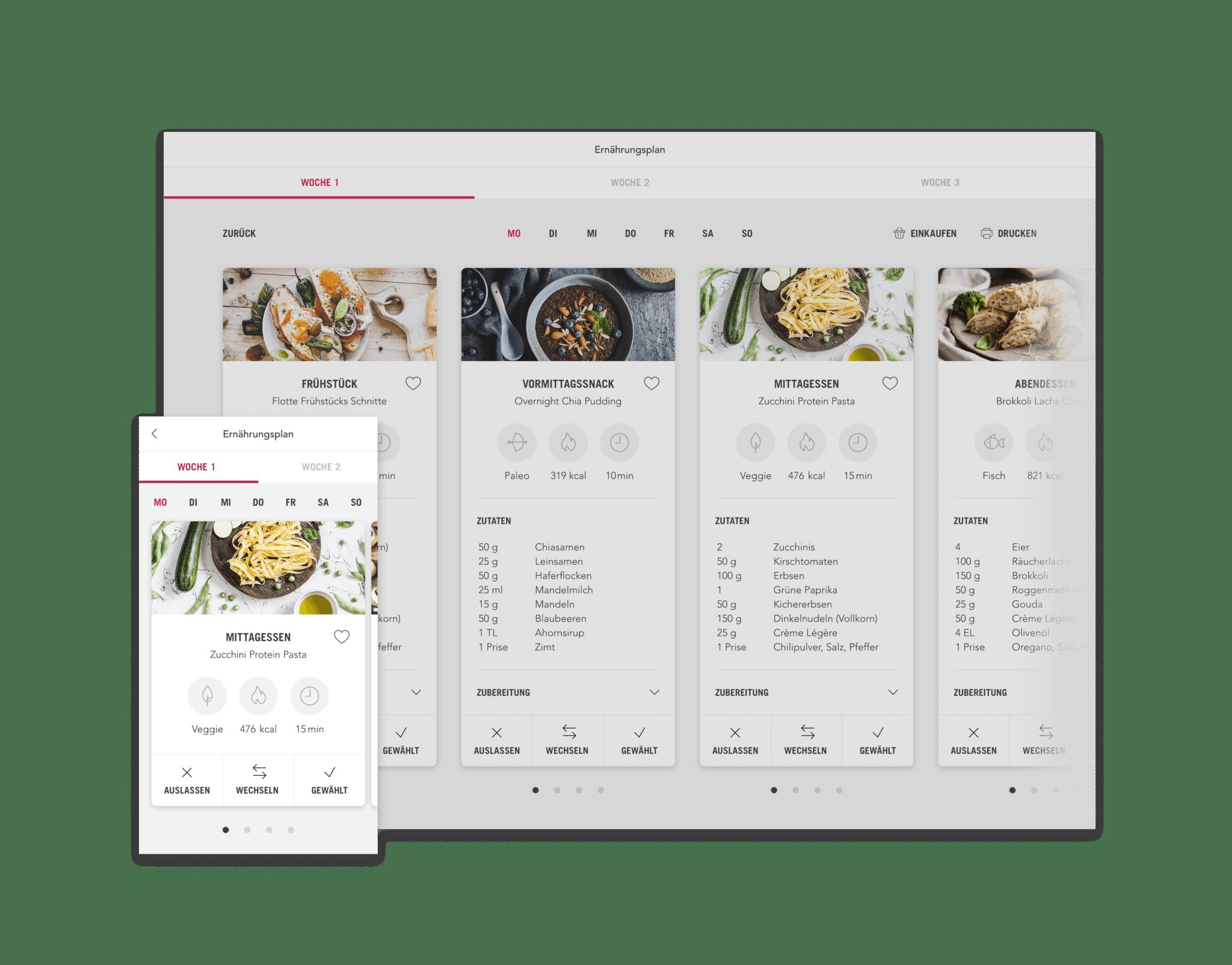 Erstellen Sie online eine personalisierte Diät